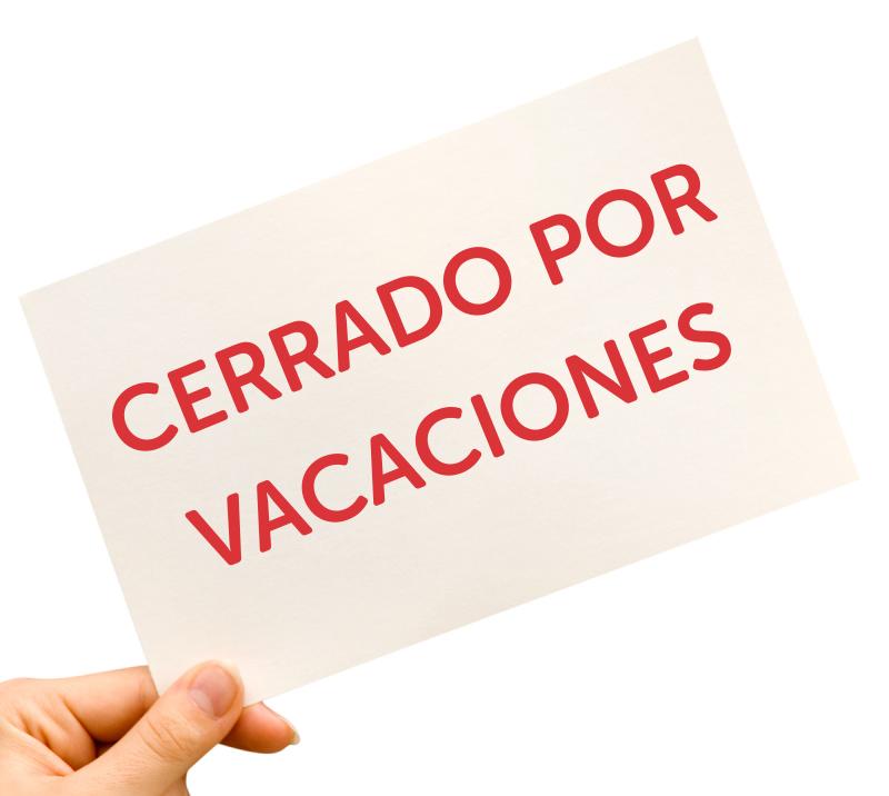 Cómo cerrar su negocio en vacaciones sin perder clientes