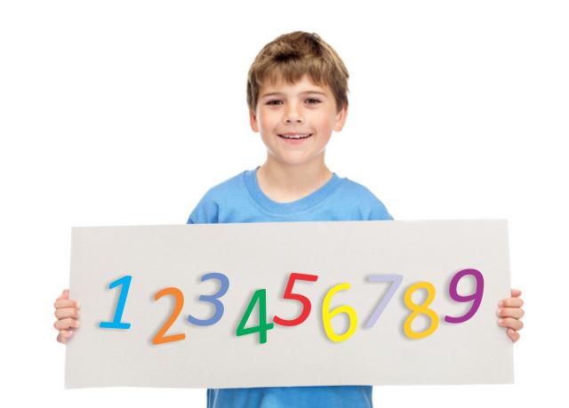 como enseñar numeros a nuestros hijos
