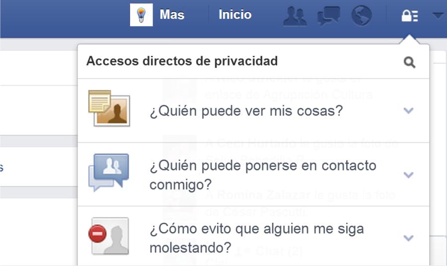 face privacidad