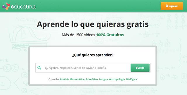 Educatina - plataforma online para estudiar tus materias de la universidad
