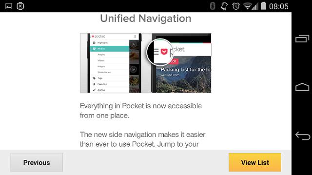 Pocket - almacena cientos de artículos y páginas web en la nube