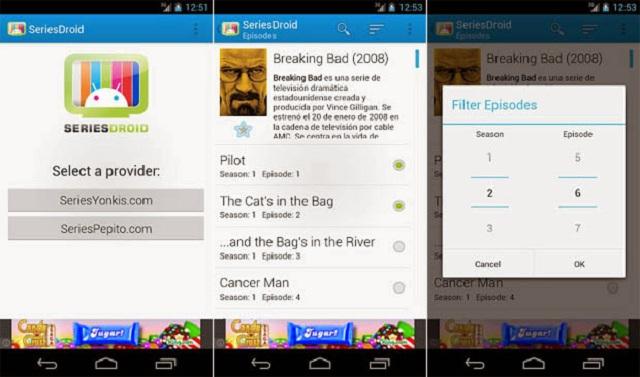 SeriesDroid N - aplicación para ver series de TV gratis desde mi smartphone