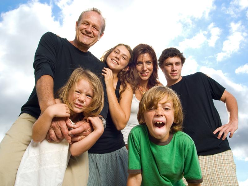 familias con hijos de diferentes parejas