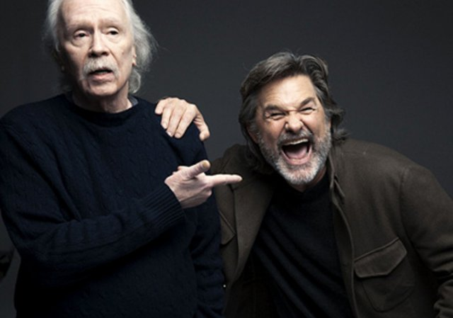 John Carpenter con su gran amigo y actor preferido, Kurt Russell