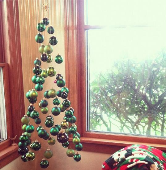 rbol colgante - Arbol De Navidad Casero