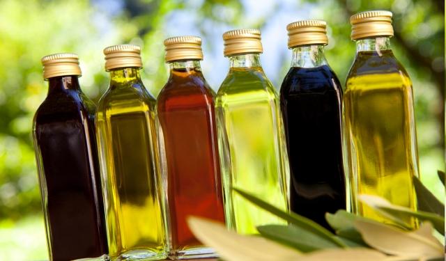 diferentes tipos de aceites de cocina