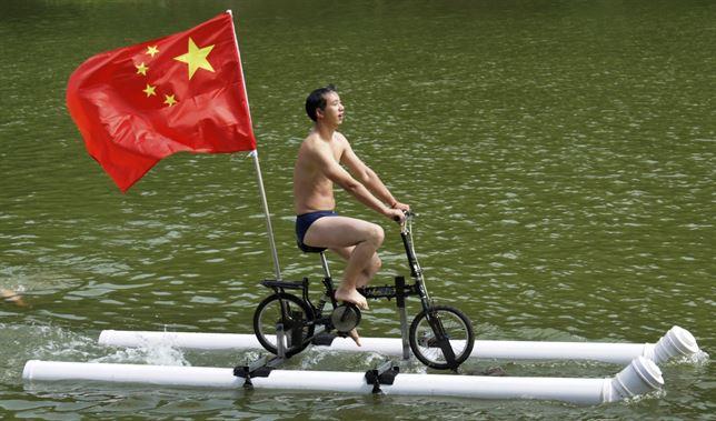 Bicicleta flotante
