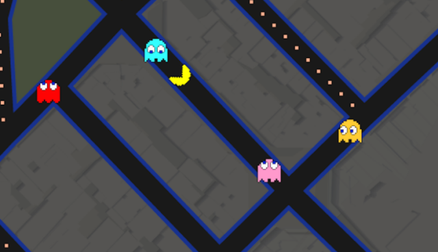 Pac Man en Google Maps