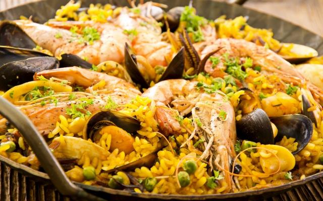 sal de mar cocina paella