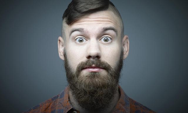 barbas insalubres mugre bacteria lavar