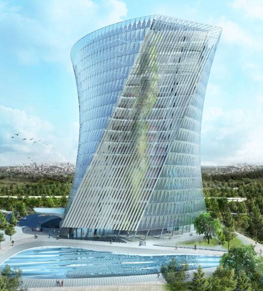 Arquitectura Innovadora: Torre Jardín Colgante