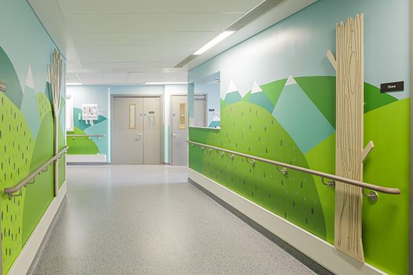 Interiorismo en hospitales para niños