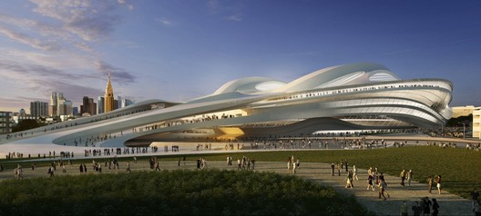 estadio olímpico de Zaha Hadid en Japón