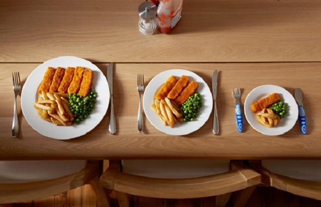 #2. Usar un plato más pequeño