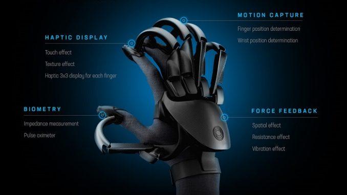 Teslasuit Glove. Sentir objetos virtuales