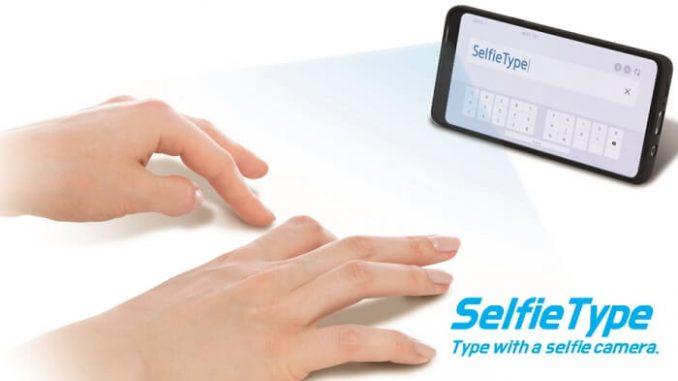 SelfieType de Samsung. Teclado virtual invisible